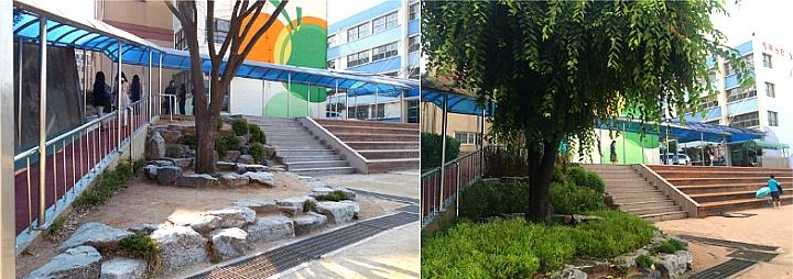 노량진초등학교 학교숲 자투리공간