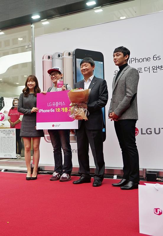 LG U+의 아이폰6s 런칭 행사, 1호 가입자부터 김풍, 유아인, 박보영까지.