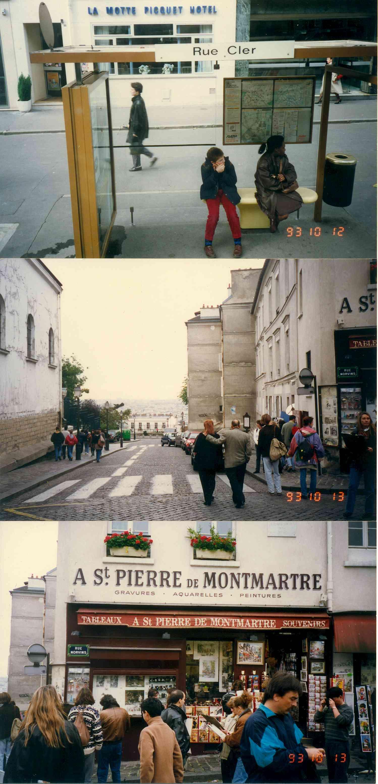 1993년 프랑스 파리 몽마르뜨
