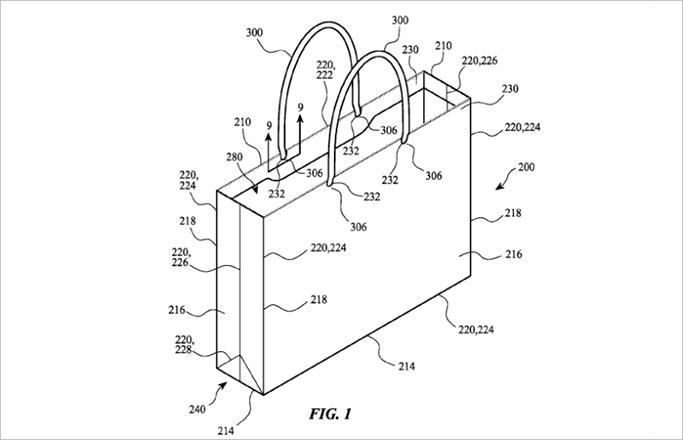 애플, 종이 쇼핑백 특허 출원... 패러디물도 화제