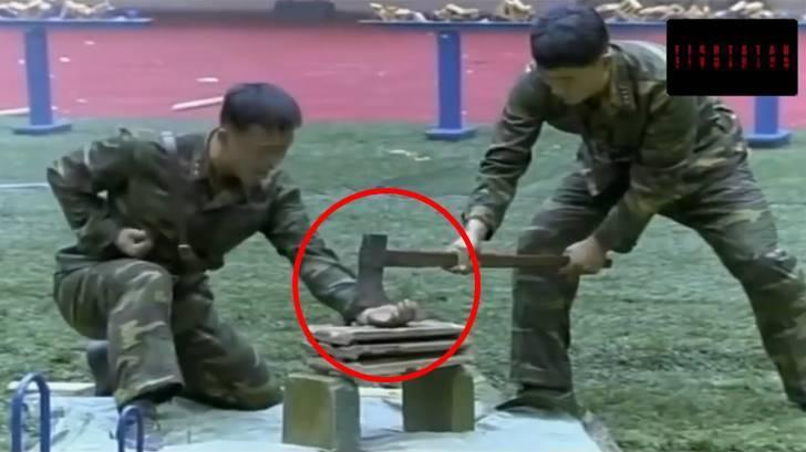 밀덕들도 깜짝 놀란 북한 특수부대의 차력쇼 같은 격파 시범