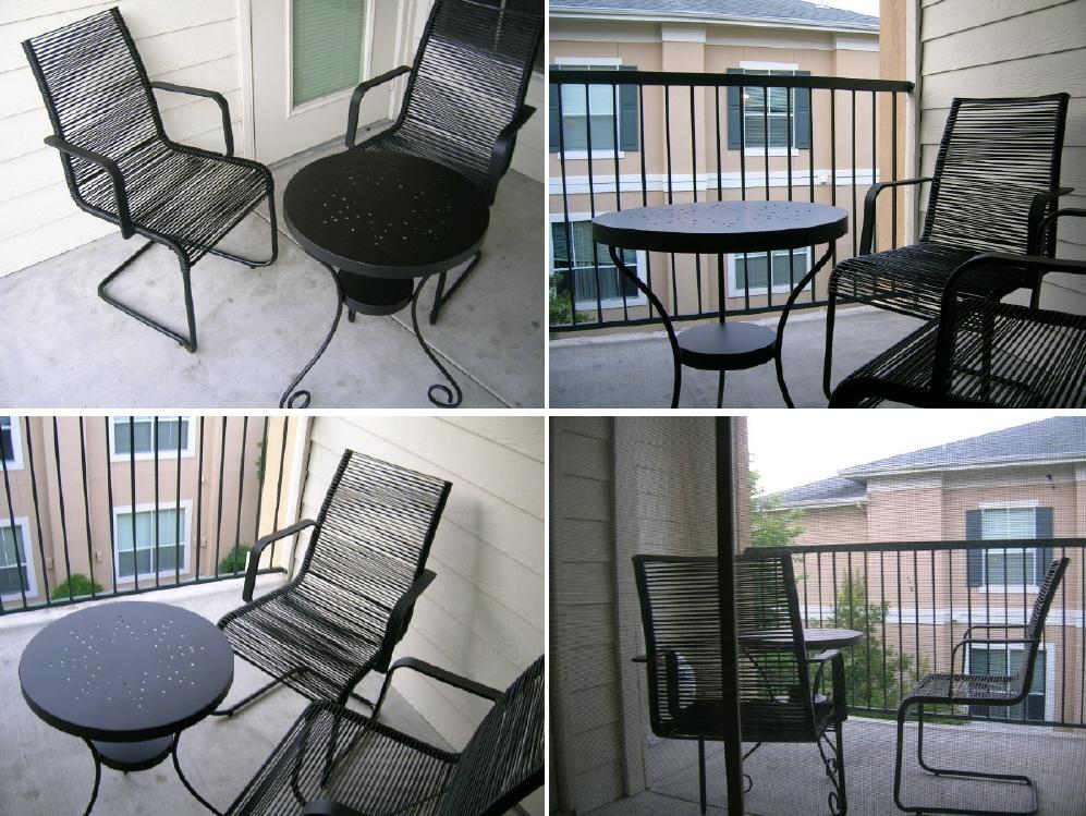 2005년 아파트 베란다 테이블과 의자