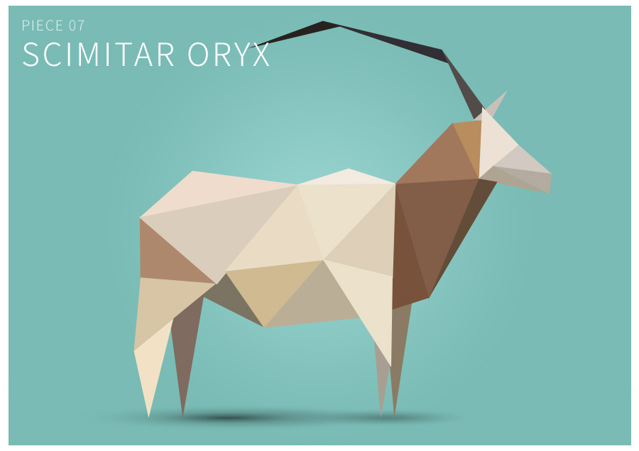 Piece 07 Scimitar oryx