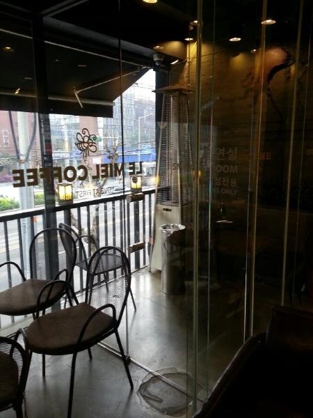 르미엘 커피 여성 전용 흡연실