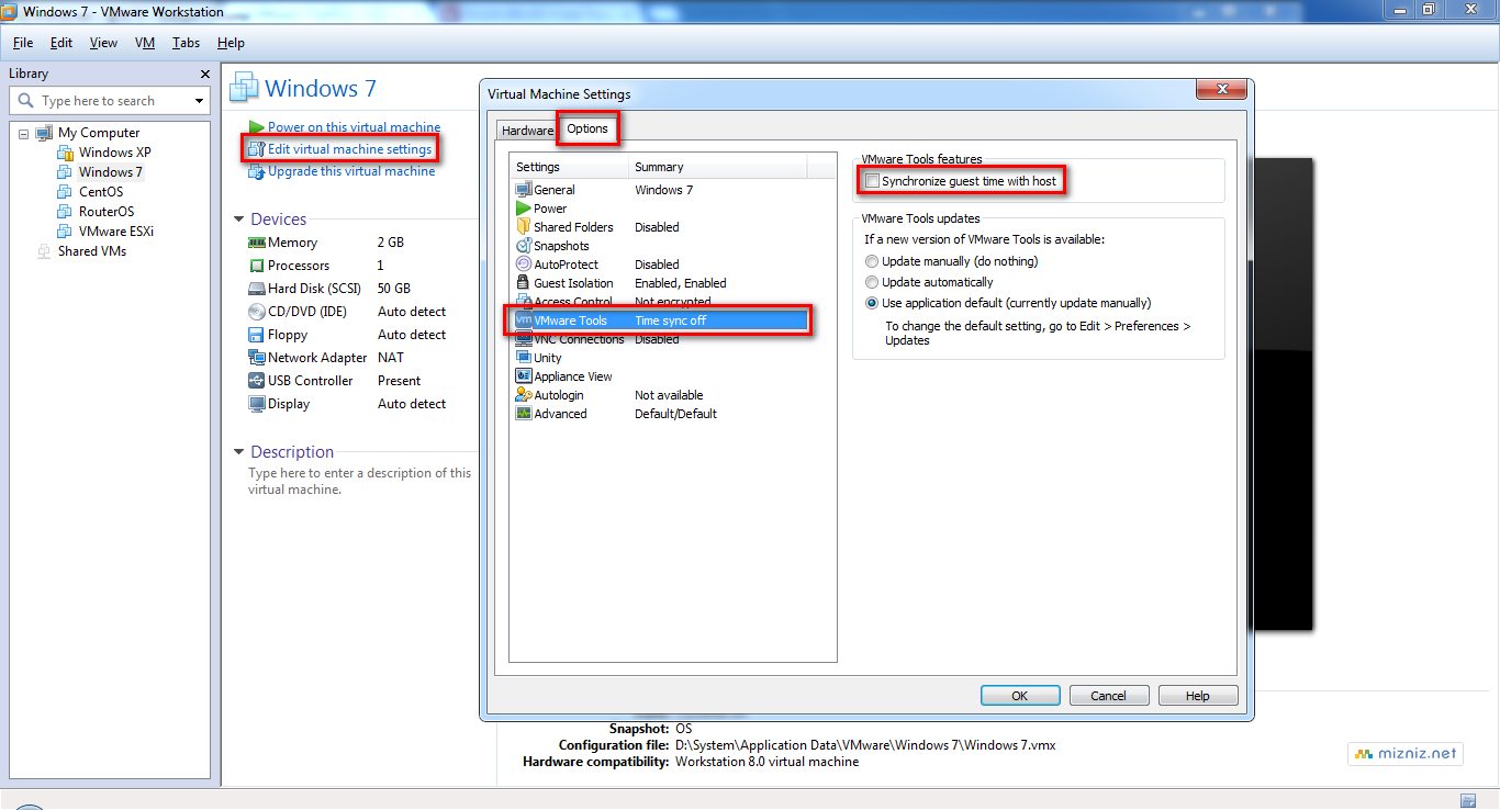 VMware Workstation 가상머신 시간 동기화