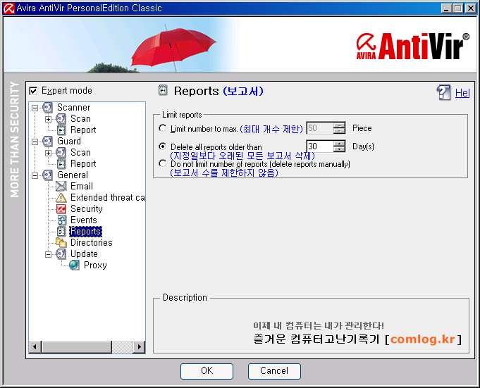 안티비르 (AntiVir) 일반 보고서