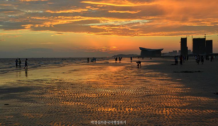 조용하고 아늑한 베이하이(北海) 치아오강(侨港海滩)해변