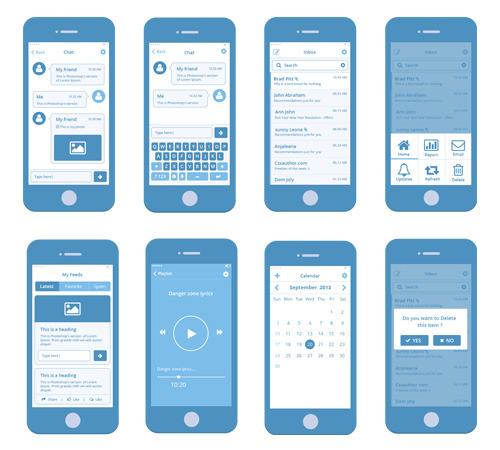 Ui ux for Powerpoint wireframe template for ui design