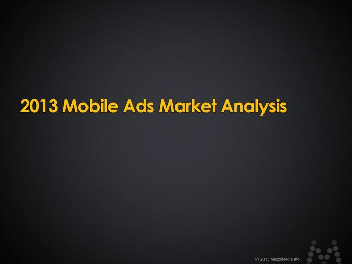2013 Mobile Ads Market Analysis