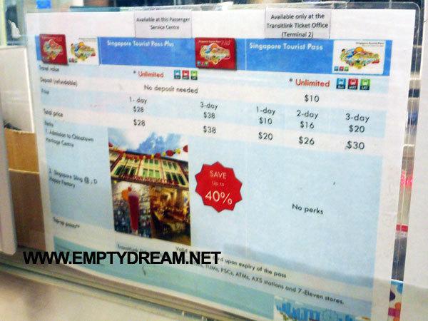 싱가포르 여행 준비 - 싱가포르 교통카드: 이지링크 카드 & 투어리스트 패스