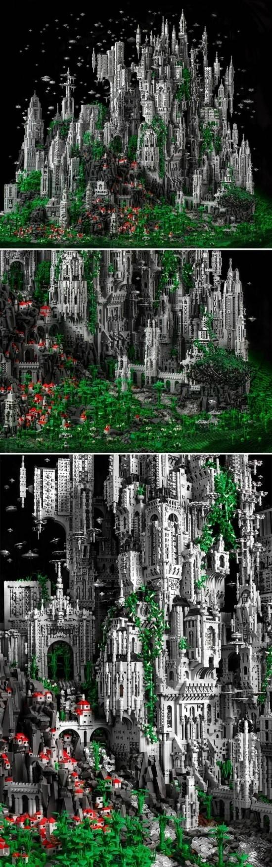 레고로 만든 성
