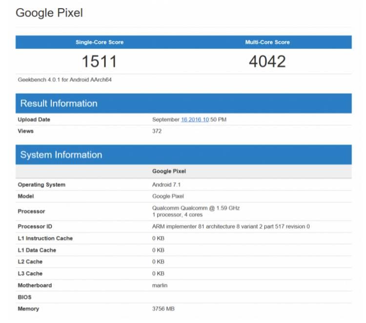 구글, 레퍼런스, 픽셀, 픽셀xl, 데이드림, pixel, daydream, 긱벤치, 벤치마크, 점수