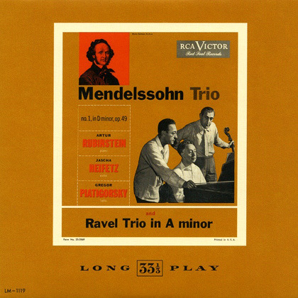 Ravel - Piano Trio in A minor op. 70-1 (Heifetz - Rubinstein - Piatigorsky)