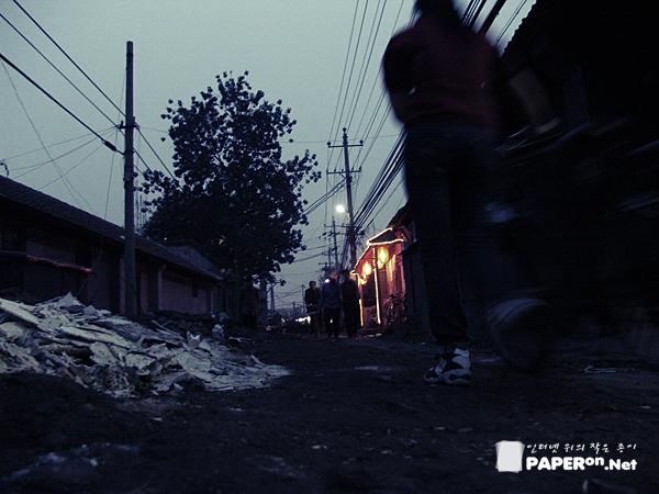 중국의 깊은 골목길