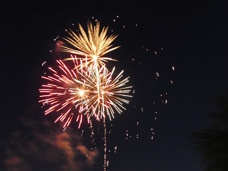 Festive night beautiful fireworks HD picture 18