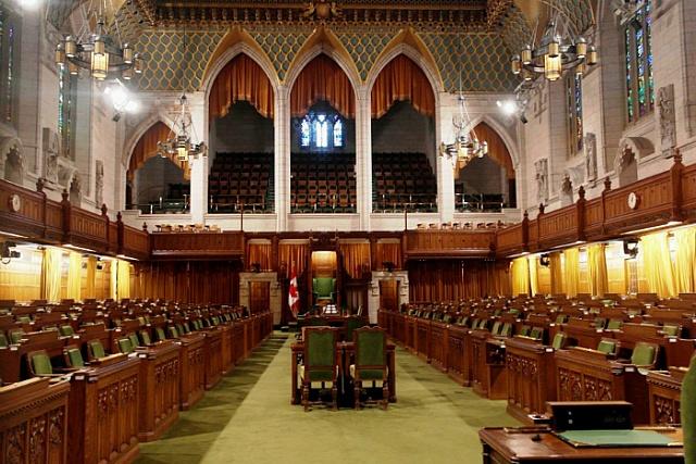캐나다 국회의사당 하원 본회의장 Parliament of Canada House of Commons