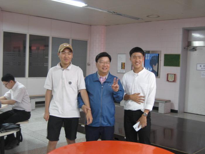권선택 대전시장과 학생들
