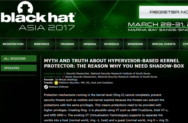 Back Hat Asia 2017-Myth and Truth about Hypervisor-based Kernel Protector