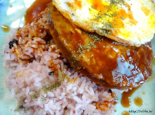 함박스테이크 덮밥
