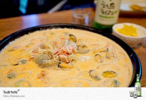 베이컨크림홍합