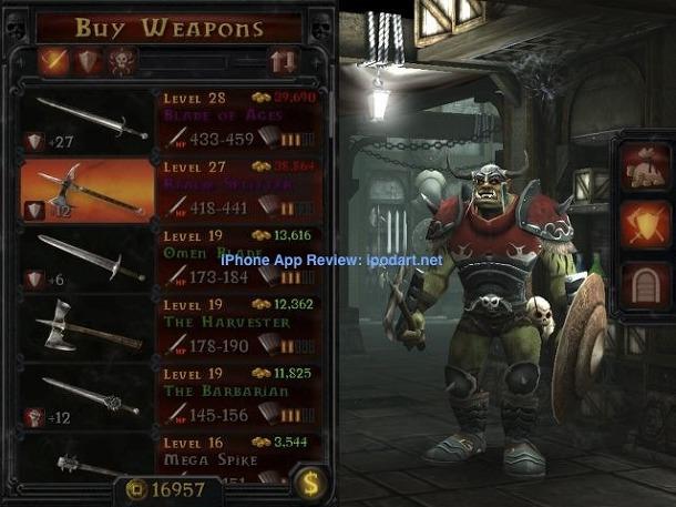 아이폰 아이패드 RPG 게임 ORC -  Vengeance