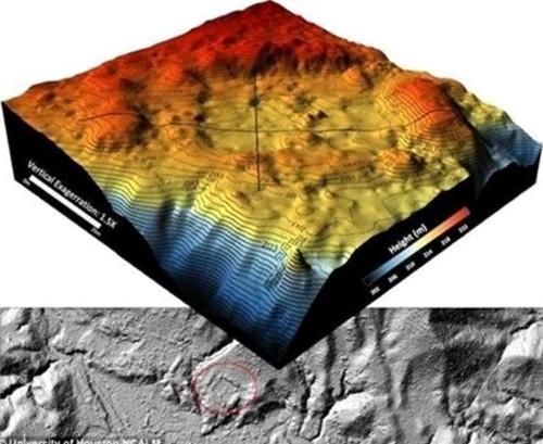 전설의 고대 도시 흔적 발견, 시우다드 블랑카             지형도 3