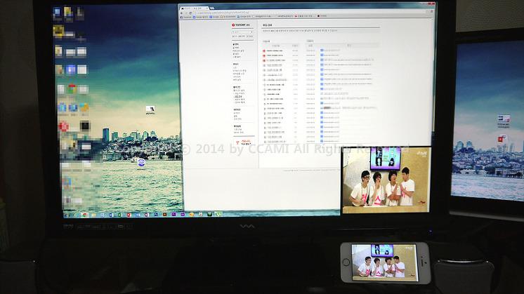CCAMI, DVI, HDMI, IT, MDS-3200, miracast, PBP, PIP, pip/pbp, qHD, QHD277, Season2, Twingle+, universal, 공유기, 리뷰, 모니터, 모두시스, 무선, 무선송출, 미라캐스트, 시즌2, 아이폰, 아이폰5S, 에어플레이, 와사비망고, 트윙글, 트윙글+, 해상도