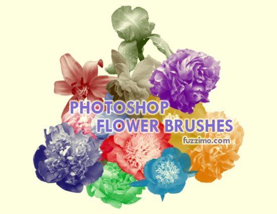 12 가지 무료 포토샵 플라워/꽃 브러쉬 - 12 Free Photoshop Flower Brushes