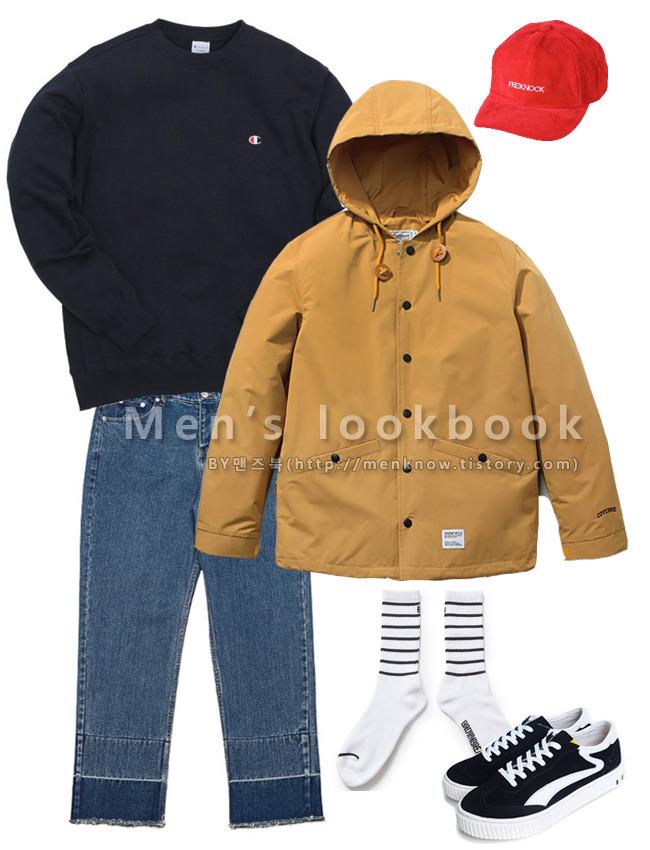 간편한 봄자켓을 활용한 남자 3월 패션
