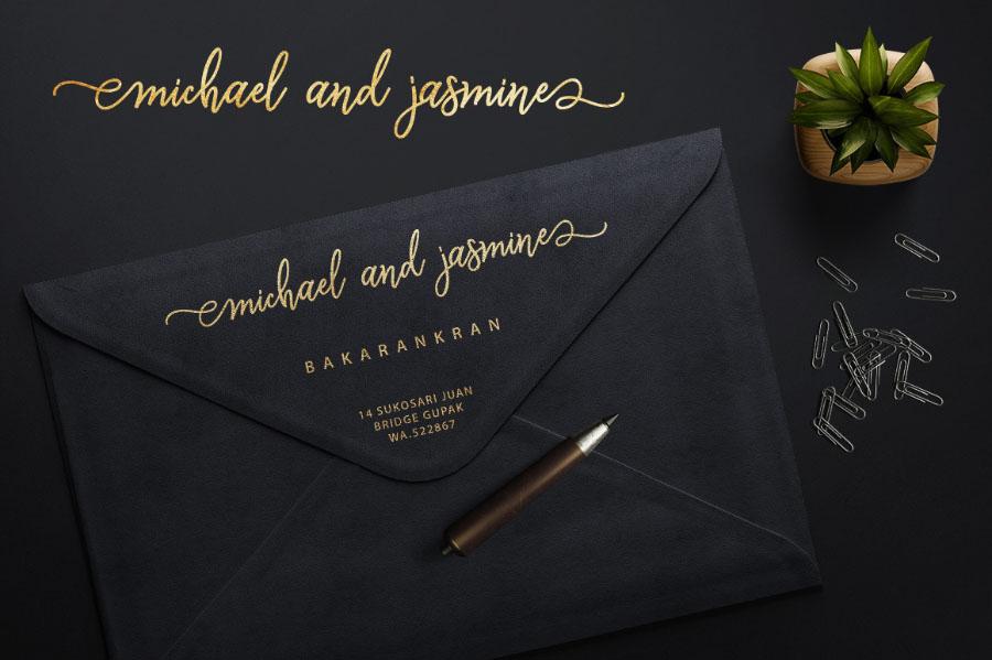 웨딩 결혼에 어울리는 무료 영문 폰트 Monalisa Script Free Version