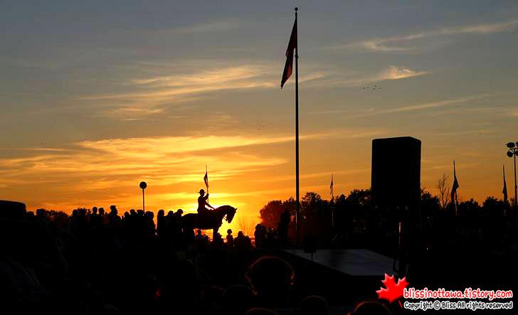 RCMP 캐나다 일몰식입니다