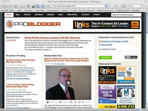 ProBlogger (www.problogger.net)