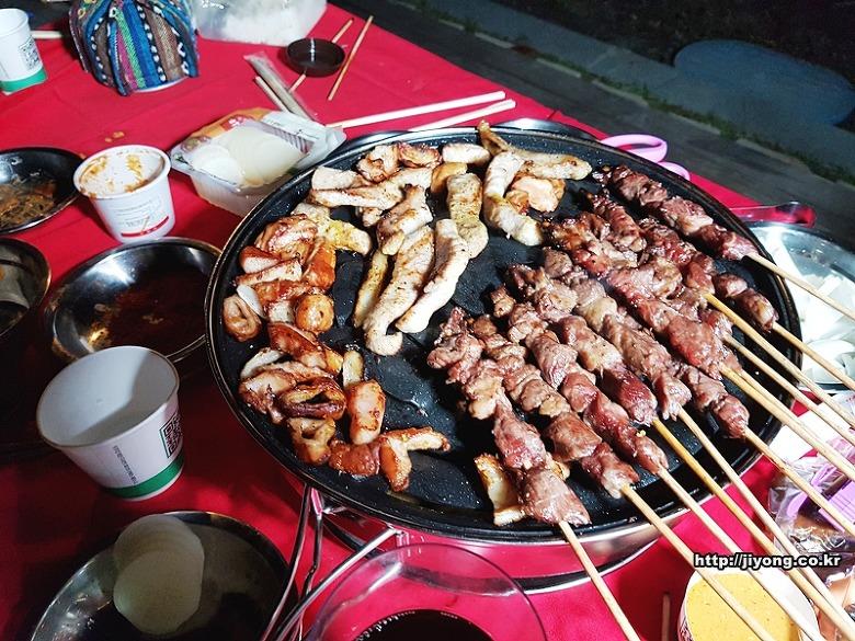 막창,양꼬치,항정살,캠핑요리,캠핑메뉴,캠핑 고기