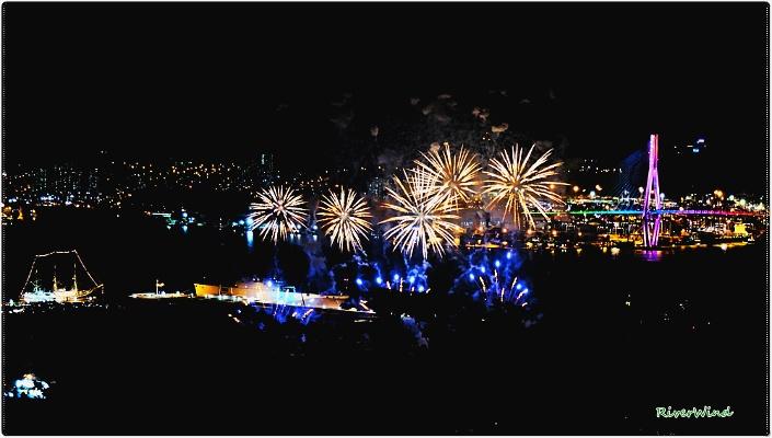 부산항축제 불꽃사진