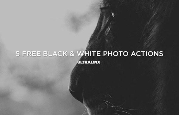 5 가지 무료 포토샵 흑백 액션 - 5 Free Photoshop Black & White Actions