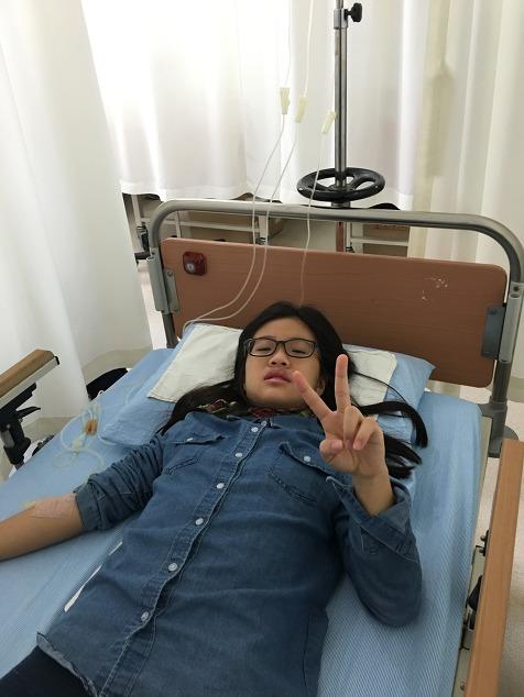 2016년 3월 16일, 독감으로 병원 신세
