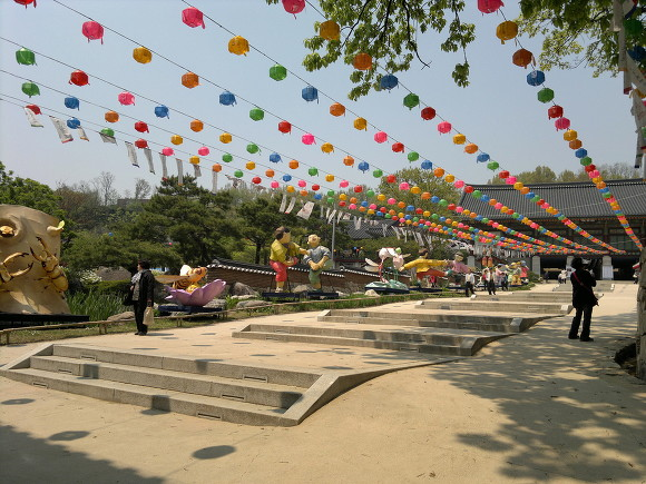 lantern exhibition for kids?? and Buddha's birthday at Bongeunsa, Seoul, Korea