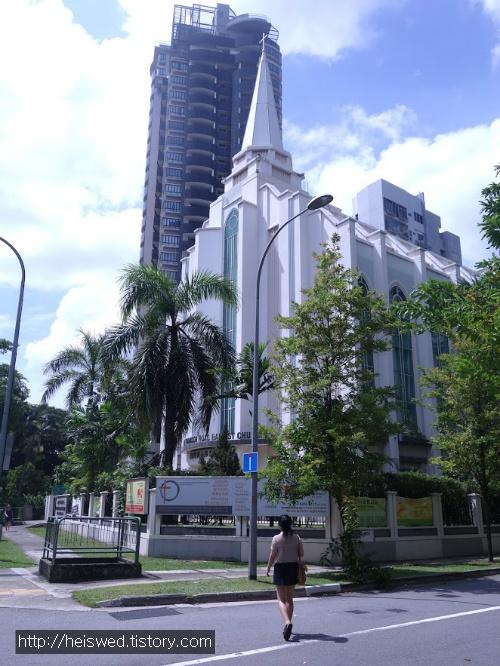 교회 싱가폴 배낭여행 100만원 일주일