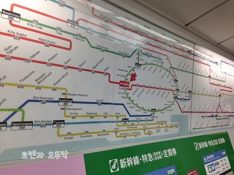 도쿄 신주쿠역 내부와 주변 풍경5