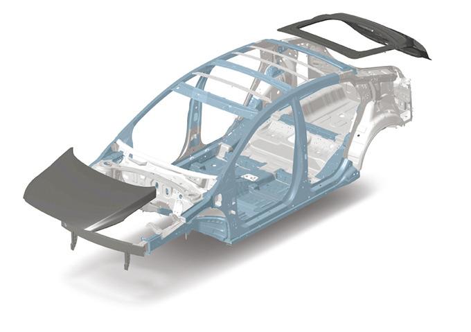 초고장력 강판과 알루미늄이 대거 적용된 차체 구조
