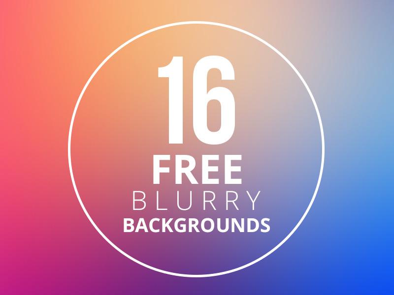 16 가지 무료 블러 백그라운드(배경) 이미지 - 16 Free Blurry Backgrounds