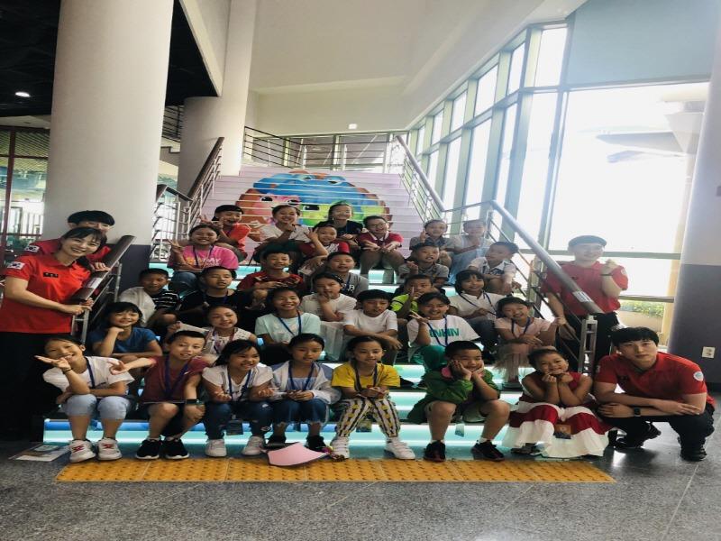 전북119안전체험관, 중국 성도소학교 학생 100여명 체험교육 실시