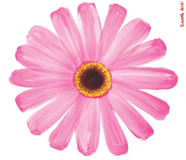 예쁜 꽃 별 그림
