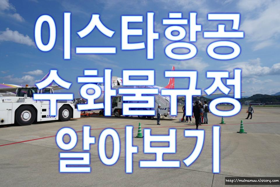 <이스타항공> 수화물 규정 필수정리