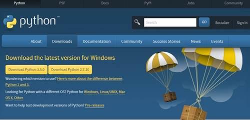 파이선 공식 사이트 - 다운로드 3.5.0