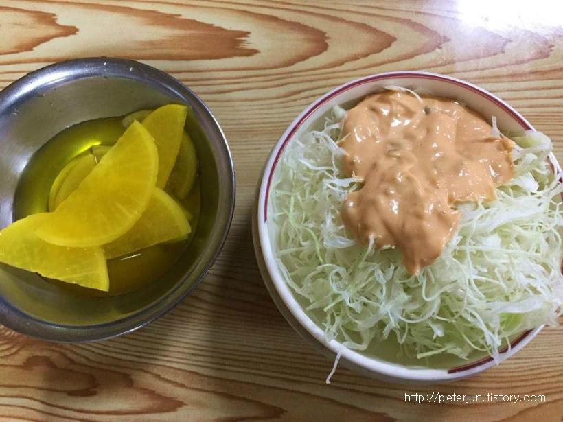 단무자와 양배추 샐러드