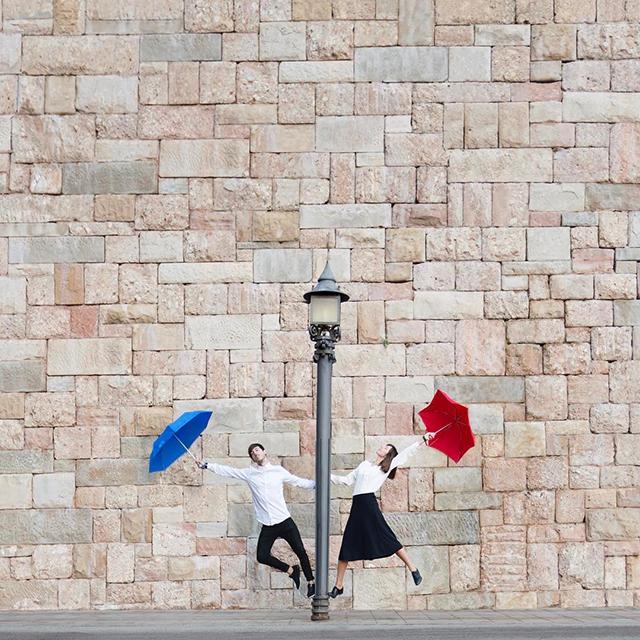 착시사진을 찍는 스페인 부부 인스타그램
