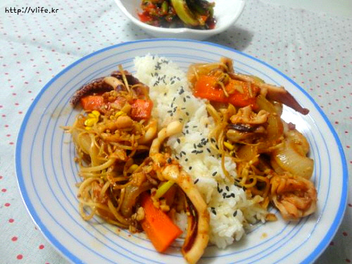 오징어 덮밥 간단하게 만들기