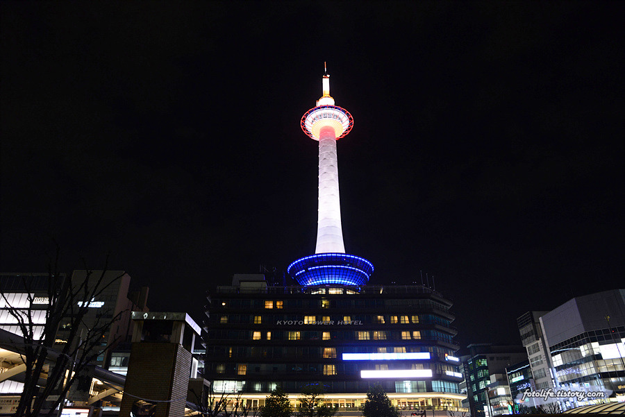 [일본/교토] 교토역 주변 야경을 한눈에! <교토타워(京都タワー)>