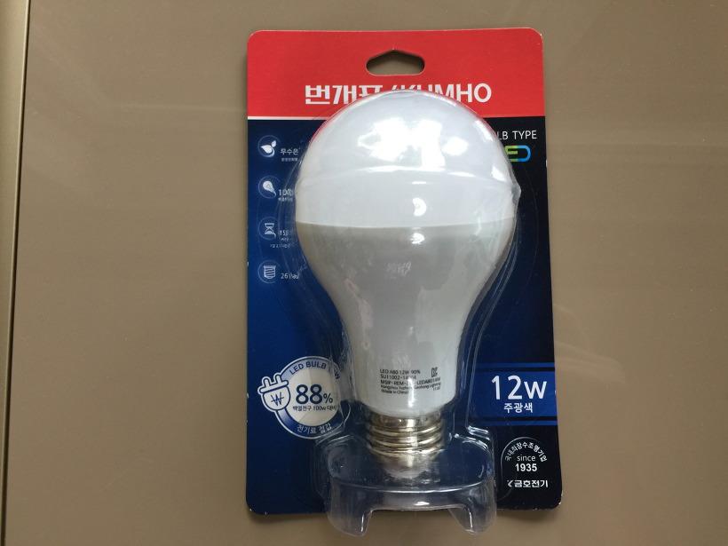 금호전기 번개표 LED 전구 12W
